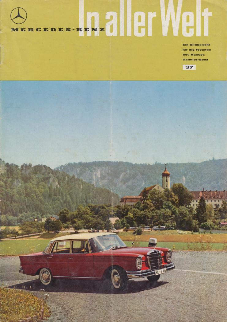 (REVISTA): Periódico In aller welt n.º 37 - Mercedes-Benz no mundo - 1959 - multilingue 001