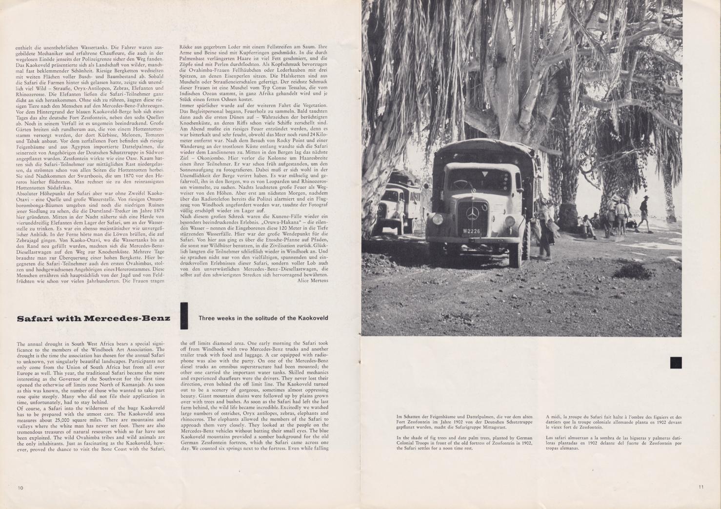 (REVISTA): Periódico In aller welt n.º 37 - Mercedes-Benz no mundo - 1959 - multilingue 006