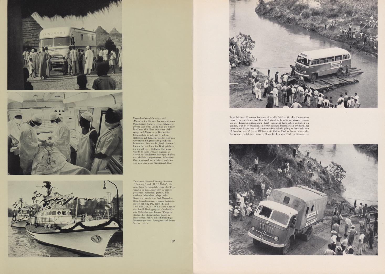 (REVISTA): Periódico In aller welt n.º 42 - Mercedes-Benz no mundo - 1960 - multilingue - com imagens do Brasil e construção de Brasília 009