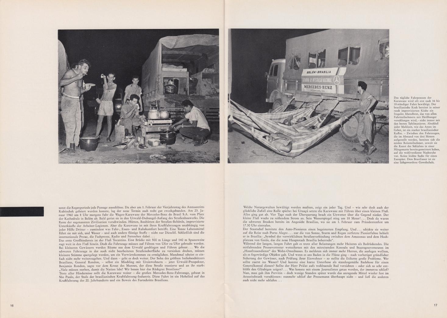 (REVISTA): Periódico In aller welt n.º 42 - Mercedes-Benz no mundo - 1960 - multilingue - com imagens do Brasil e construção de Brasília 011