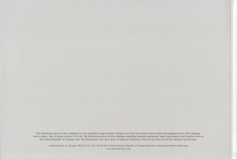 (W163): Catálogo 2001 (1) - inglês 030