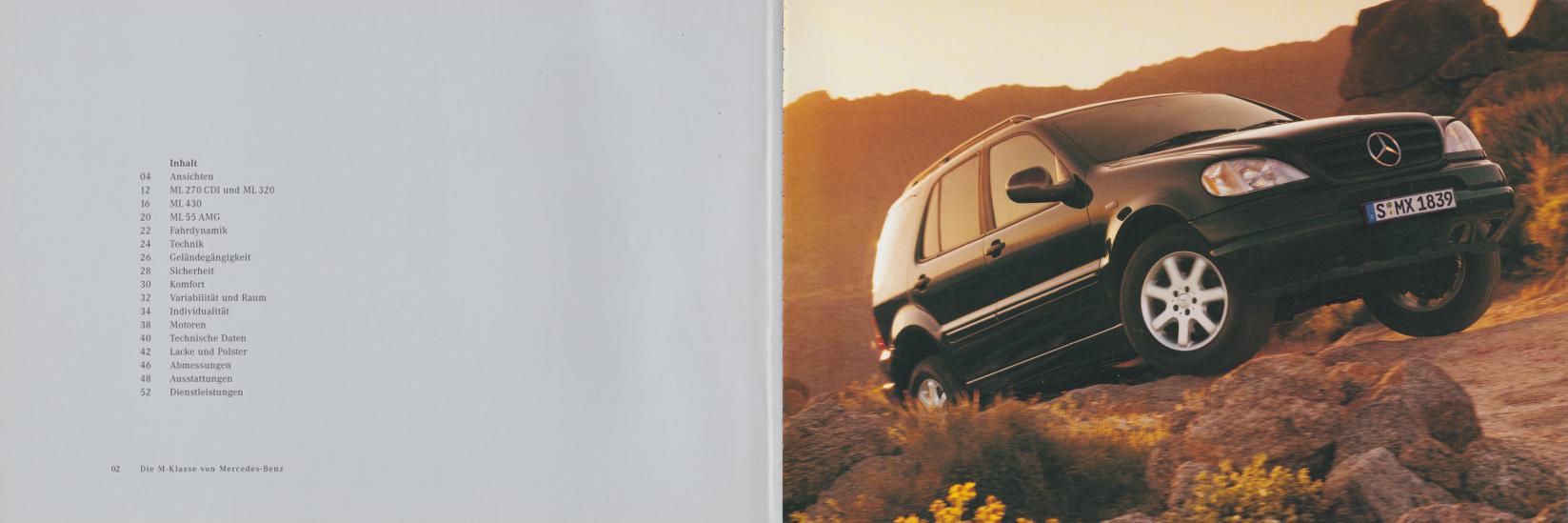 (W163): Catálogo 2000 - alemão 003