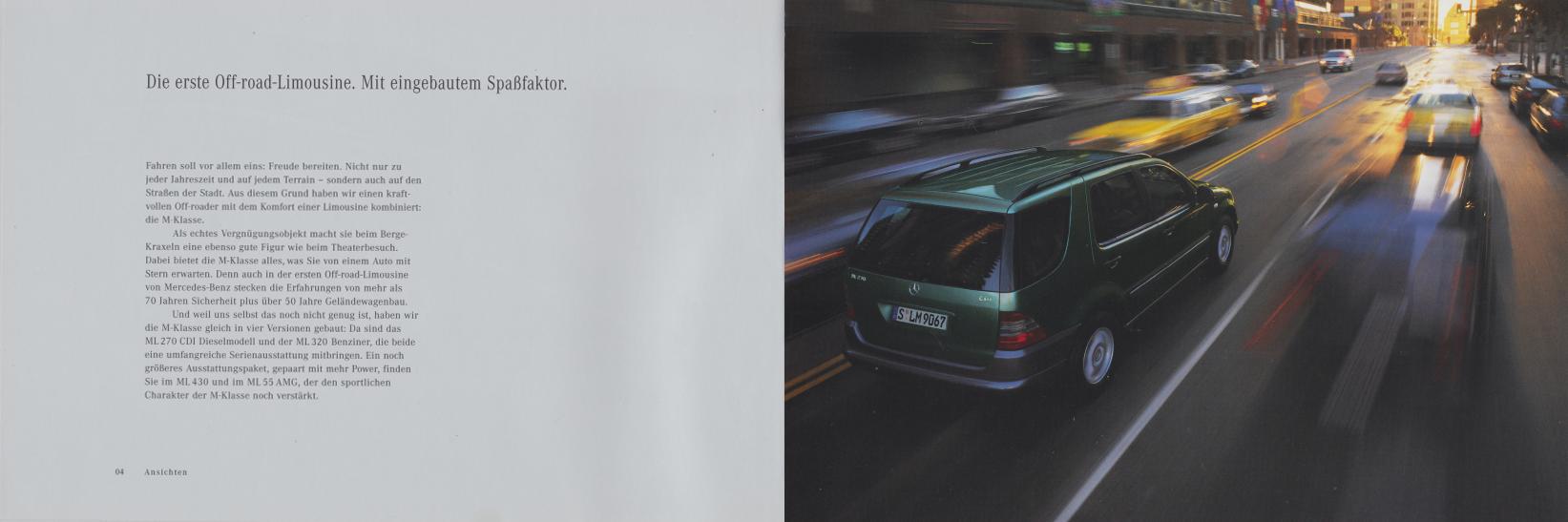 (W163): Catálogo 2000 - alemão 004
