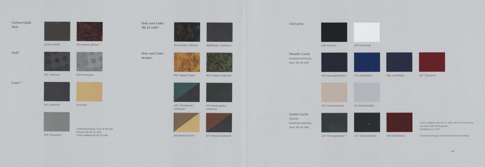 (W163): Catálogo 2000 - alemão 024