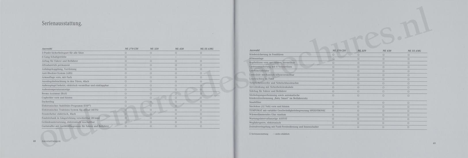 (W163): Catálogo 2000 - alemão 026