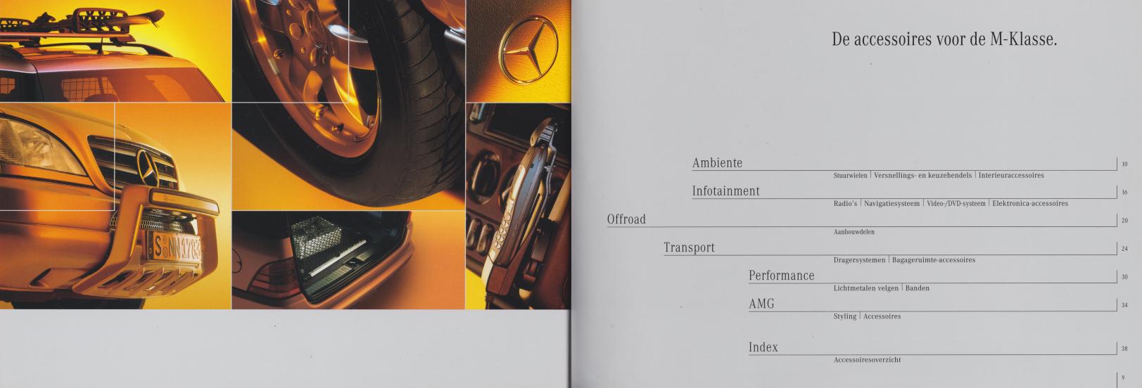 (W163): Catálogo 2001 - acessórios - neerlandês 005