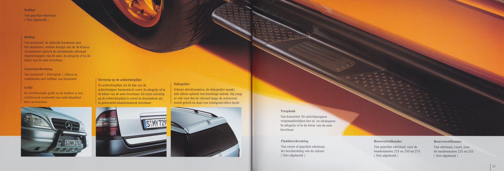 (W163): Catálogo 2001 - acessórios - neerlandês 012