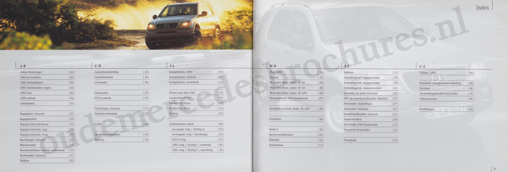 (W163): Catálogo 2001 - acessórios - neerlandês 020