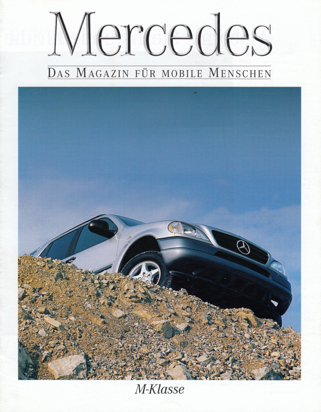"(W163): Revista Mercedes Magazin ""M-Klasse"" 1998 - alemão 001"