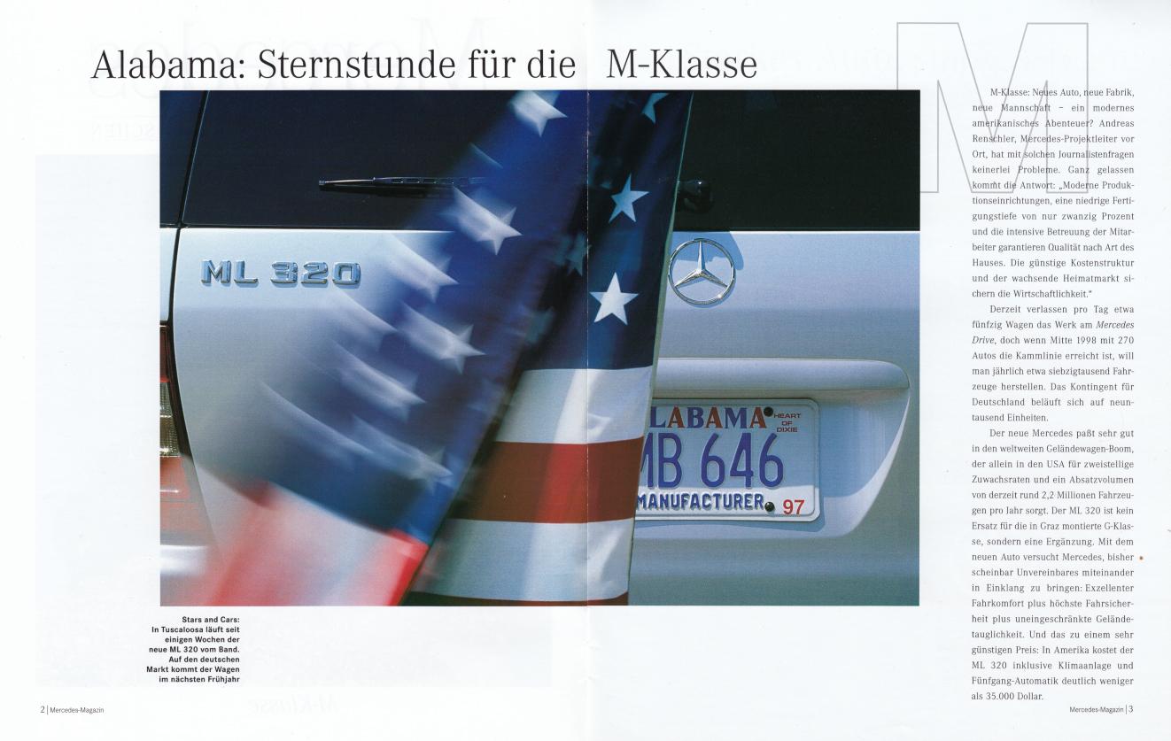 "(W163): Revista Mercedes Magazin ""M-Klasse"" 1998 - alemão 002"