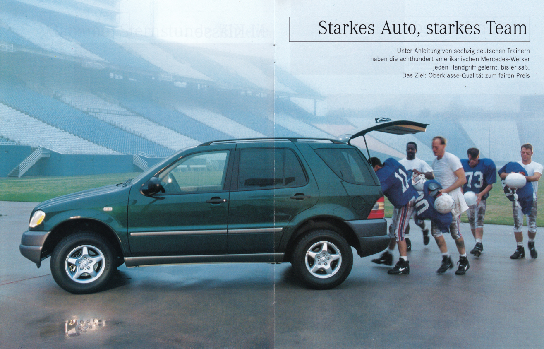 "(W163): Revista Mercedes Magazin ""M-Klasse"" 1998 - alemão 003"
