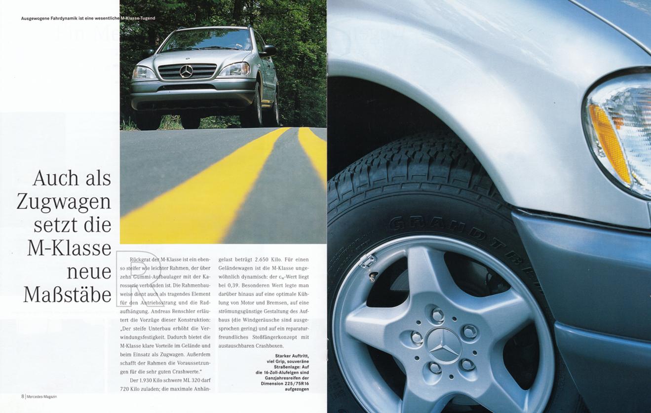 "(W163): Revista Mercedes Magazin ""M-Klasse"" 1998 - alemão 005"