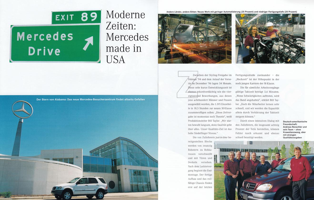 "(W163): Revista Mercedes Magazin ""M-Klasse"" 1998 - alemão 007"