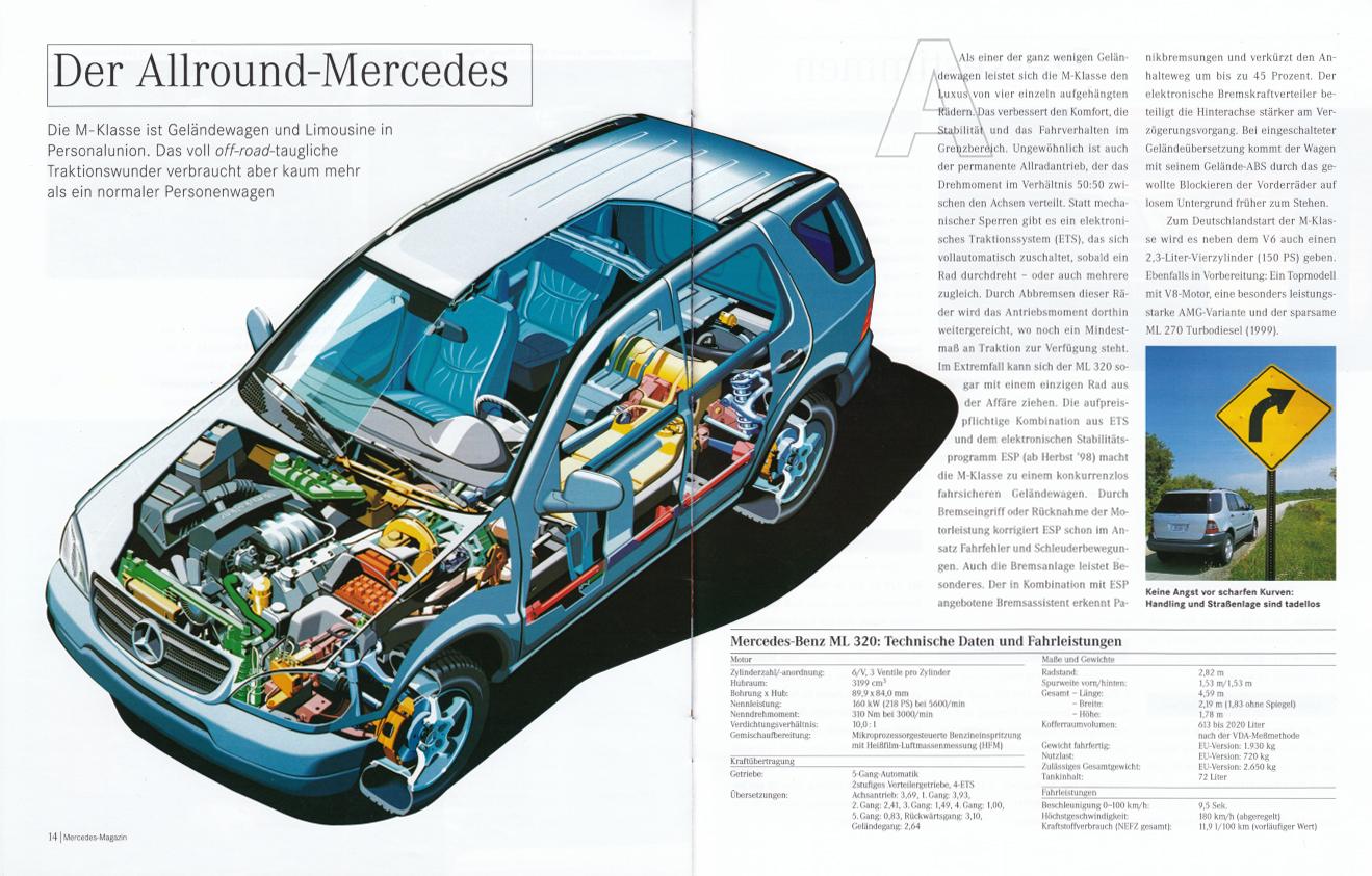 "(W163): Revista Mercedes Magazin ""M-Klasse"" 1998 - alemão 008"
