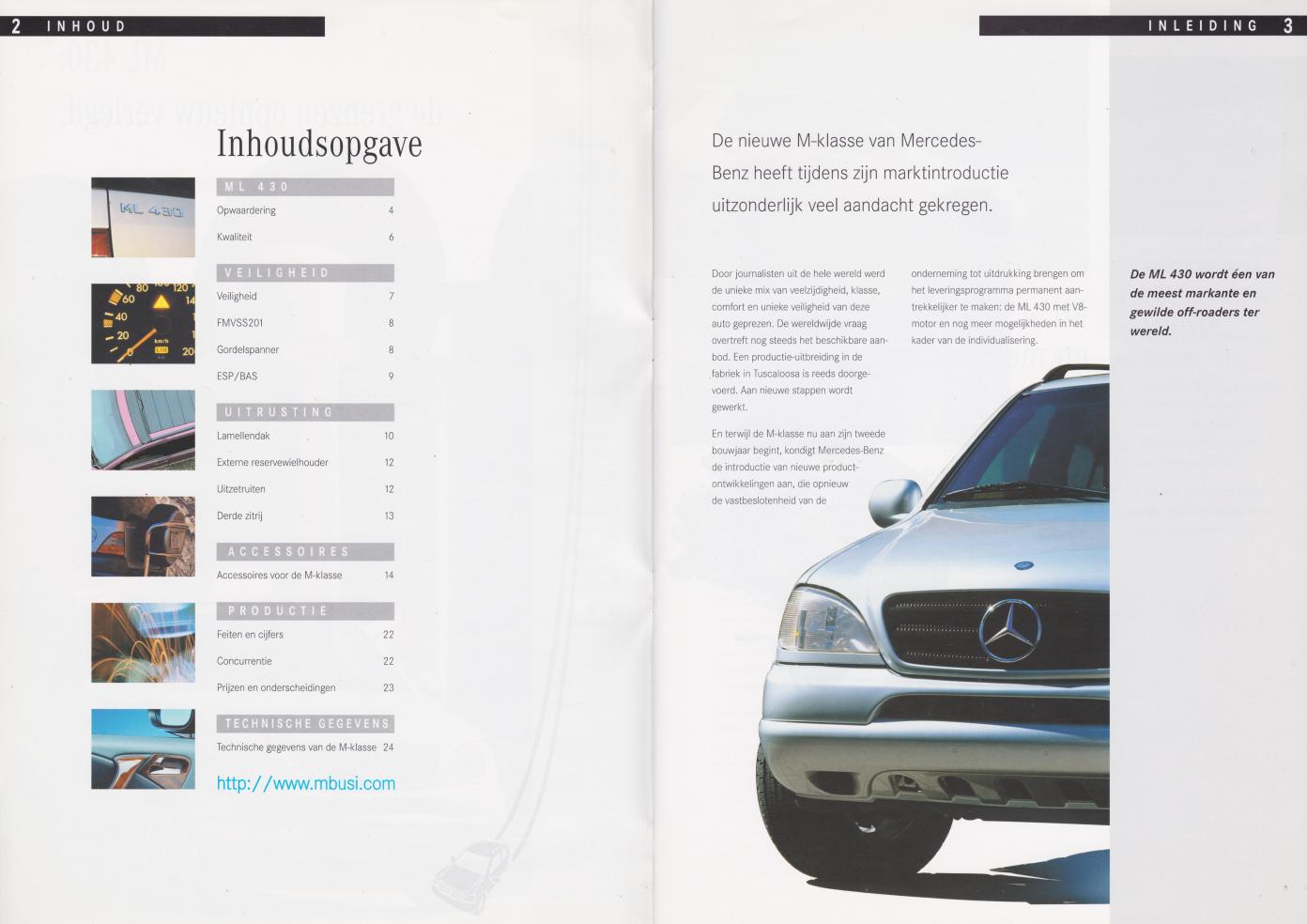 (W163): Prospecto ML430 1998 - neerlandês 002