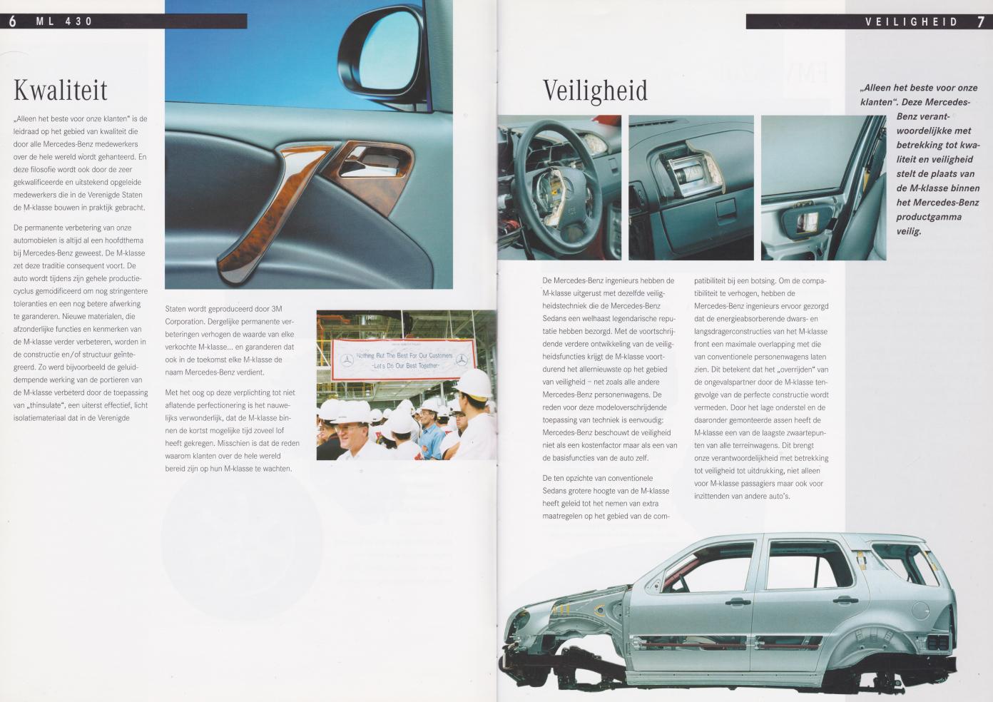 (W163): Prospecto ML430 1998 - neerlandês 004