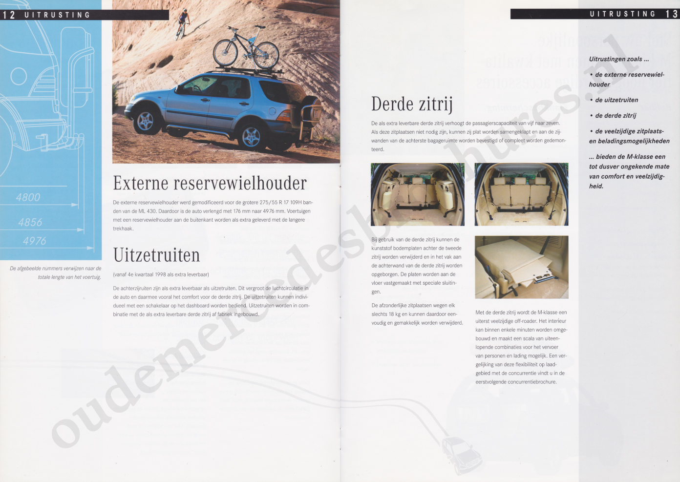 (W163): Prospecto ML430 1998 - neerlandês 007