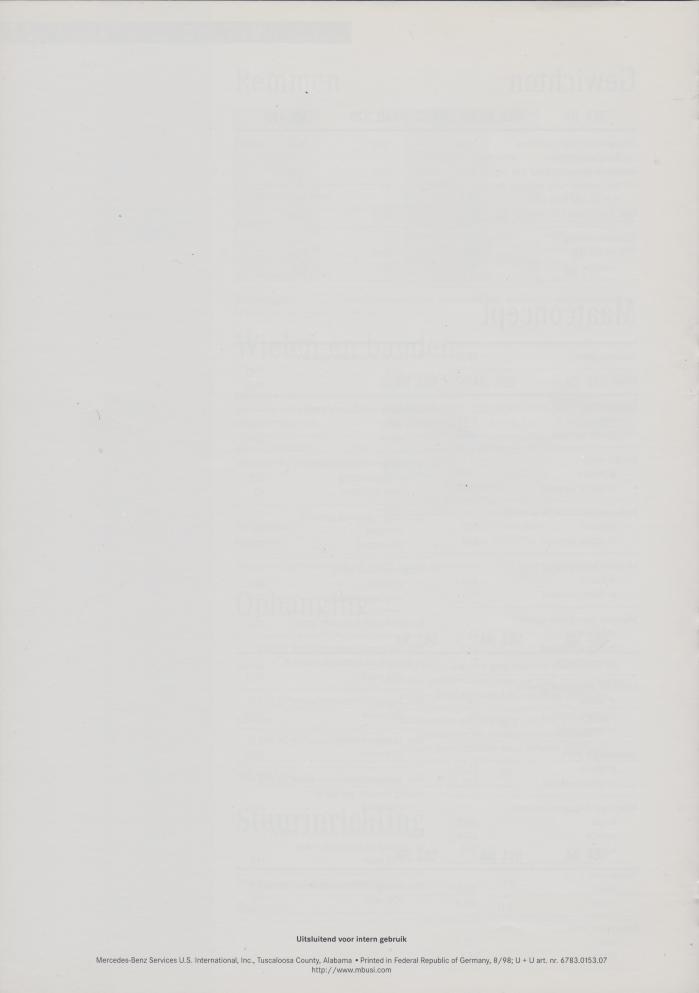 (W163): Prospecto ML430 1998 - neerlandês 014