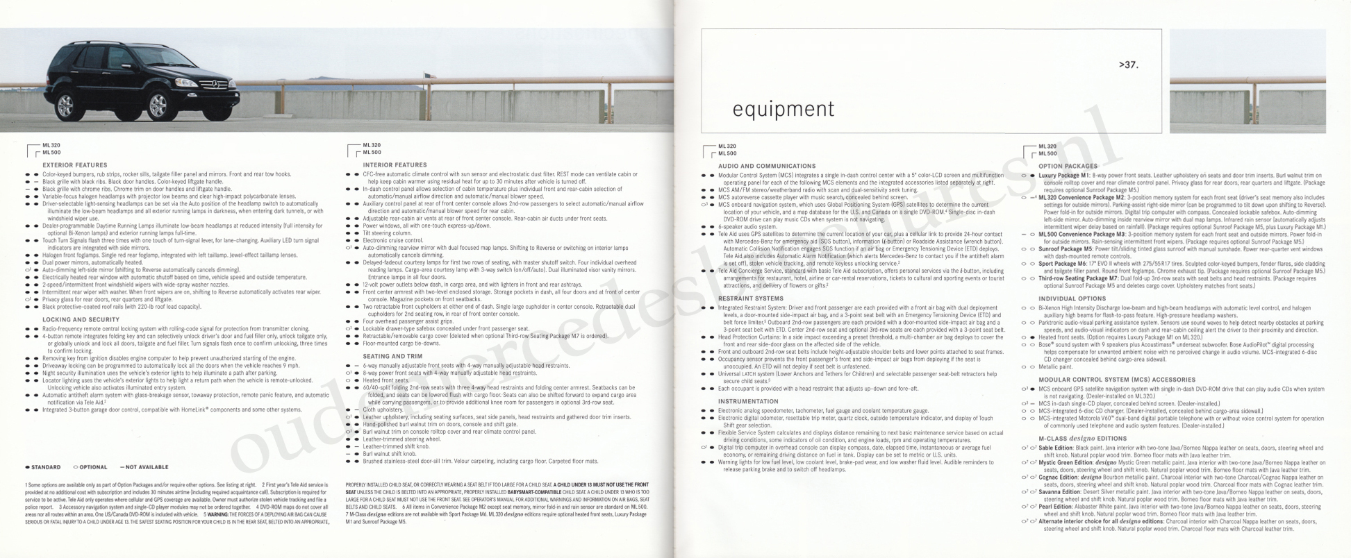 (W163): Catálogo USA 2003 - inglês 020